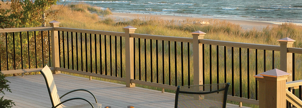 Deckorators goodfellow inc for Balustrade aluminium exterieur